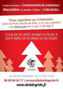 Affiche a3 de Sled Dog Ride pour les fêtes de Noël